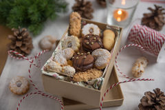 Mixed Christmas Cookies Royalty Free Stock Photography
