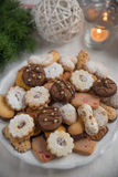 Mixed Christmas Cookies Stock Photography