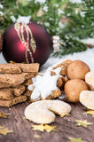Mixed Christmas Sweets Stock Images