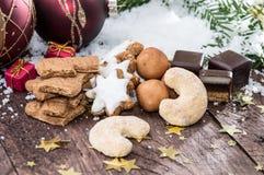 Mixed Christmas Sweets Stock Photos