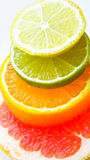 Mixed citrus fruit stock image