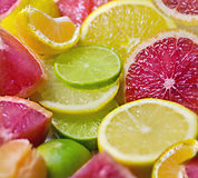 Mixed citrus fruit Royalty Free Stock Photo