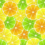 Mixed citrus slices  - lemon, lime, orange. Royalty Free Stock Photos