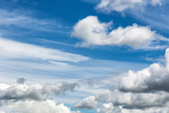 Mixed clouds skyscape Stock Images