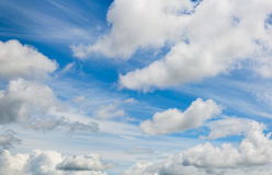 Mixed clouds skyscape Stock Photography