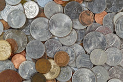 Mixed Coins Stock Images