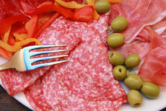 Mixed cold cuts Stock Images