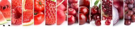 Mixed of color fruits and vegetables royalty free stock photos