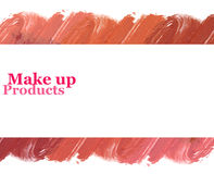 Mixed color lipstick banner design with space for text. royalty free stock photos