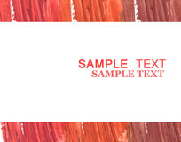 Mixed color lipstick banner design with space for text. stock image