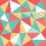 Mixed color low polygon pattern Stock Photography