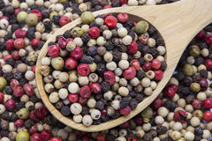 Free Mixed Color Pepper And Wooden Spoon Royalty Free Stock Photo - 67223685