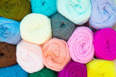 Mixed color of yarn ball Royalty Free Stock Photography