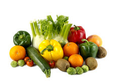 Mixed colorated vegetables Stock Photos