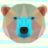 Mixed colored abstract geometric polygonal white bear Royalty Free Stock Photography