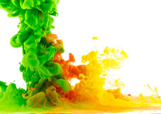 Mixed colored liquid 2 Royalty Free Stock Photography