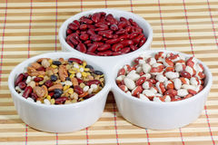 Free Mixed Colorful Beans In A White Bowl Stock Images - 3993534