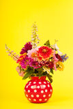 Mixed colorful bouquet in vase Royalty Free Stock Image