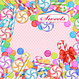 Mixed colorful candies Stock Images