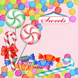 Mixed colorful candies Royalty Free Stock Image