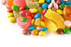 Mixed colorful candies Stock Image