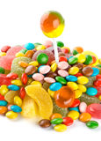 Mixed colorful candies Royalty Free Stock Photos