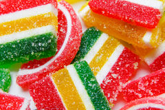 Mixed colorful candies background Stock Images