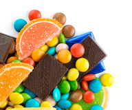 Mixed colorful candies Royalty Free Stock Images