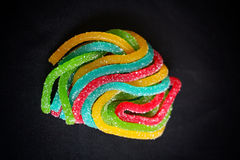 Mixed colorful candy. On black background Royalty Free Stock Image