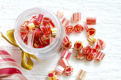 Mixed colorful candy lollipops Stock Image