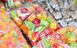 Mixed colorful caramels Royalty Free Stock Photography