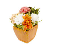 Mixed colorful dry flower arrangement Stock Photo