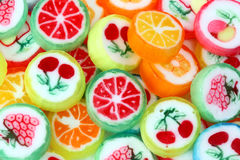 Mixed colorful fruit bonbon. Close up stock image