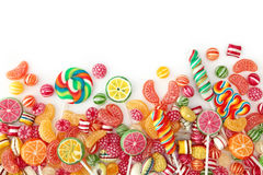 Mixed colorful fruit bonbon. Close up royalty free stock photos
