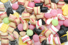 Mixed of colorful fruit bonbons. Stock Photos