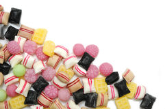 Mixed of  colorful fruit candys. Royalty Free Stock Photo