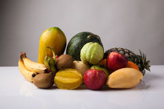 Mixed colorful  fruits Royalty Free Stock Image