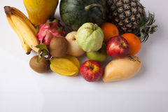 Mixed colorful  fruits Royalty Free Stock Photos