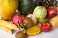 Mixed colorful  fruits Royalty Free Stock Images