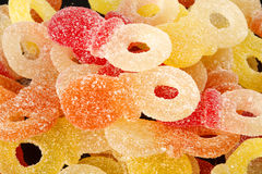 Mixed colorful jelly candies Stock Photography