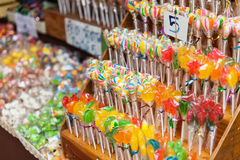 Mixed colorful sweets lollipops Stock Photography