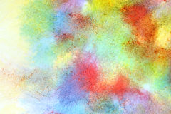 Mixed colors. Abstract watercolor texture Royalty Free Stock Images