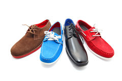 Mixed Colors man shoes Royalty Free Stock Photography