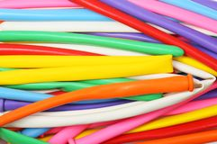 Balloons as a texture. Mixed colourful balloons as a background and texture stock photo