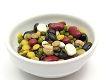 Mixed and colourful legumes Stock Image