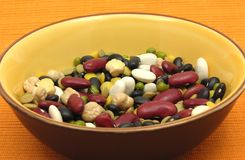 Mixed and colourful legumes Royalty Free Stock Image