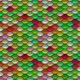 Mixed Colours Scales Seamless Pattern Stock Photography