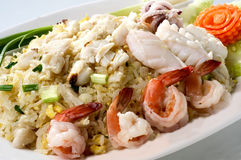 Mixed combination fried rice Stock Images