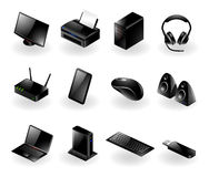 Mixed computer hardware icons Stock Photo