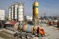 Mixed concrete batching plant Royalty Free Stock Photo